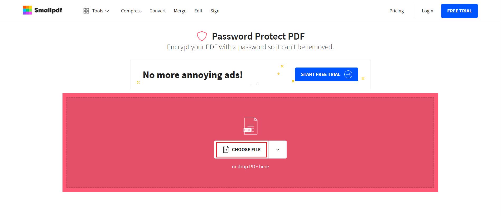 pdf me password kaise lagaye
