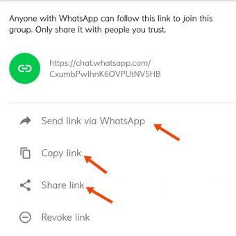 WhatsApp Group invitation link