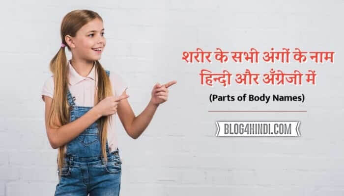 Parts of Body Name in hindi and english