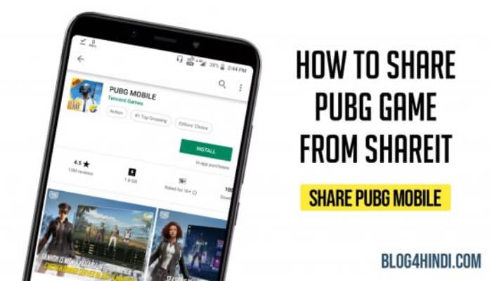 how to share pubg mobile by shareit