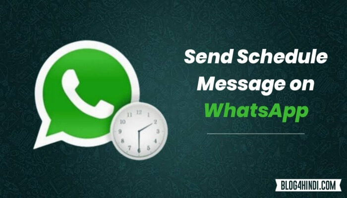How to schedule whatsapp message in Hindi