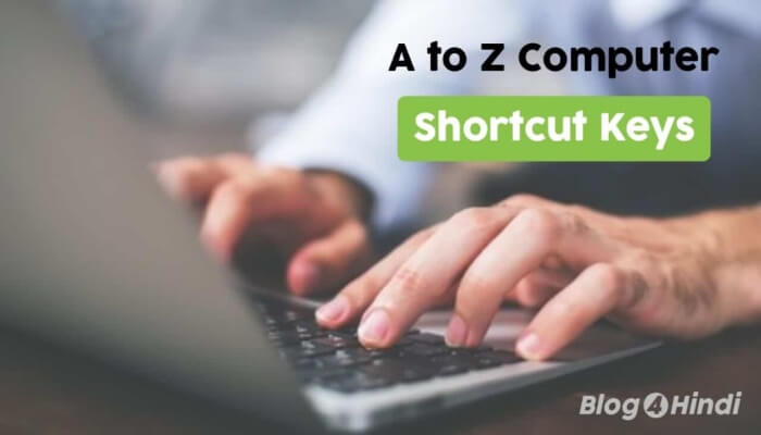 Computer shortcut keys list