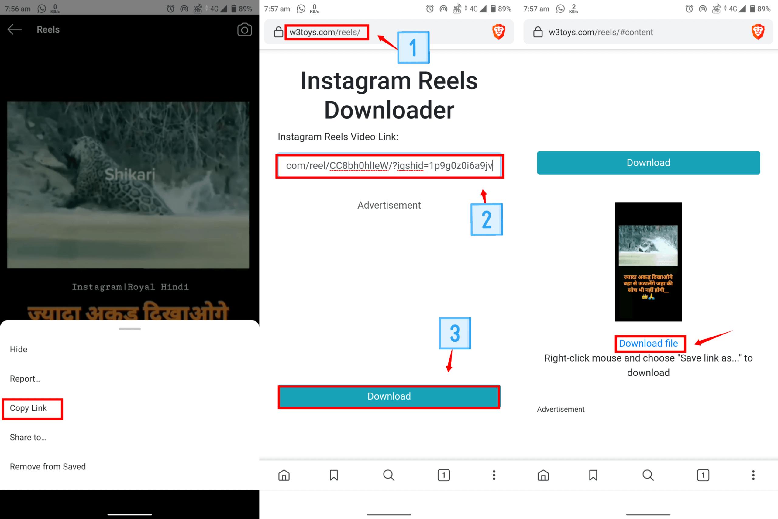 Instagram reels video downloader