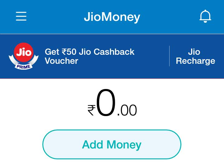 add money in jio money
