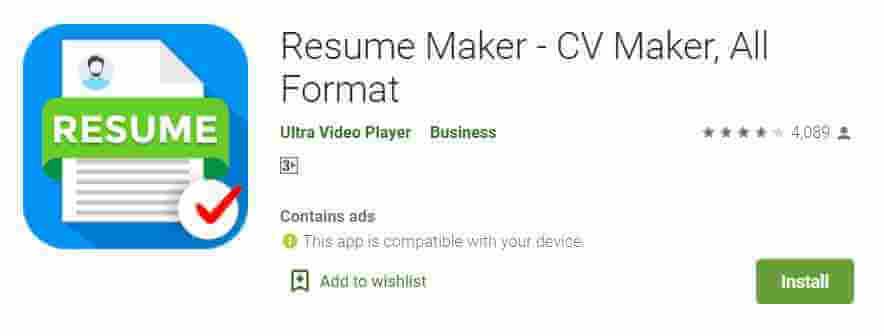 CV Resume Maker App