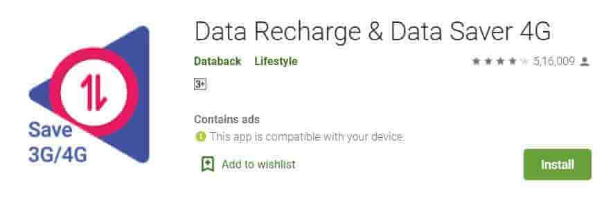 Databack - Data Recharge app