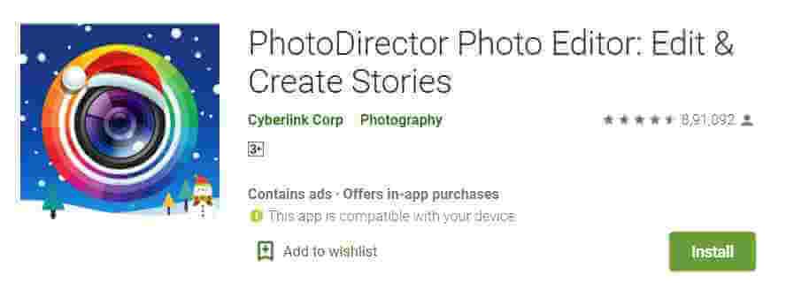 PhotoDirector Photo Edit Karne Wala App