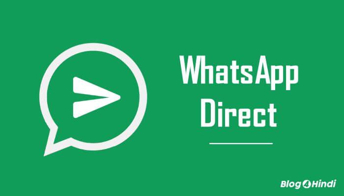 whatsapp direct message send