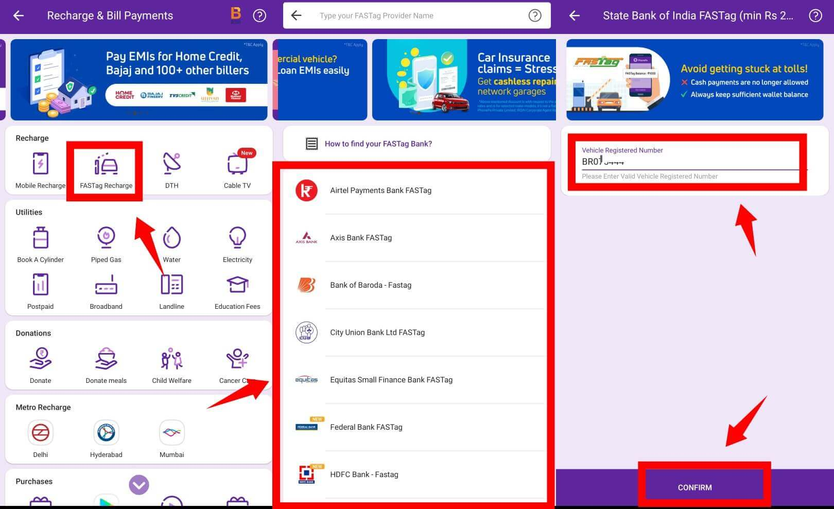 phonepe fastag recharge