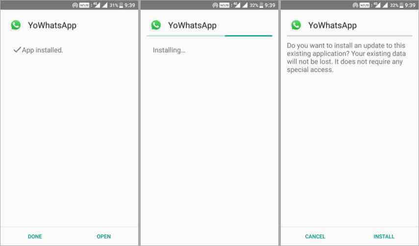 yo whatsapp install process - यो व्हाट्सएप्प डाउनलोड